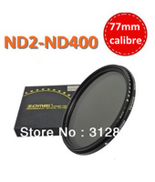 Free shipping+tracking no. 77mm Fader ND Filter Adjustable Variable ND2 to ND400 Filter