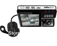 "X6 Dual lens Car DVR.dual lens car black box + 2.0""TFT Full HD 720P 140 degree HD ultra wide angle lens With G-sensor"