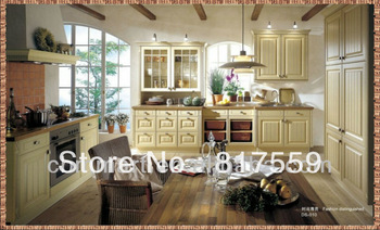 wood classic kitchen royal kitchens cabinet elegant cupboard 0410-DS010