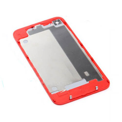 Red Glass Rear Back Battery Cover Housing Replacement Parts for Apple GSM iPhone 4 4G High Quality Free Shipping Hot(China (Mainland))