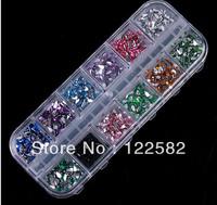The 10piece twelve color  Free Shipping  The High quality  Nail diamond phone beauty diamond 3d bows nail art  Diamond film