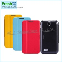 HK Free shipping,Quality Products NILLKIN Fresh series Leather Case for Lenovo A590 retail box
