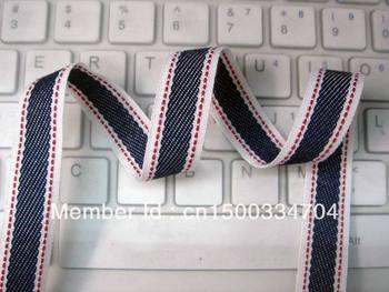 Jumper twill tape hops denim ribbon hair accessories DIY clothing accessories