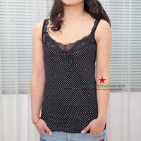 T17 candy color spaghetti strap vest modal dot lace racerback spaghetti strap top small vest