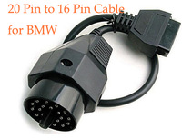 Free Shipping Connector Cable for BMW 20PIN to OBD2 16PIN  Diagnostic Tool Connector Cable