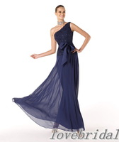 Free shipping 2013 Fashion lace body with satin sashes chiffon skirt floor-length  Evening Dress Gown  E0026