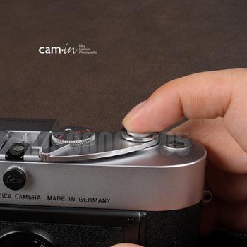 Cam-in silvery release shutter button For Leica Contax Fujifilm CAM 9011