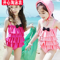 2014 New Hot Sale Freeshipping Solid Cotton Free Shipping!2013 Summer Child Swimwear Baby One Piece Children's