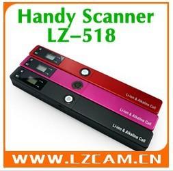 Handheld Scanner Portable Scanner Handyscan A4 Color Hand Film Scanner Handy Scanner LZ-518 5PCS/LOT,Free Shippimg