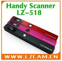 Handheld Scanner Portable Scanner Handyscan A4 Color Hand Film Scanner Handy Scanner LZ-518 5PCS/LOT,Free Shippimg