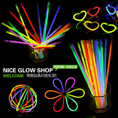 Disposable niceglow neon stick neon bracelet luminous stick glow stick belt neon stick adapter(China (Mainland))