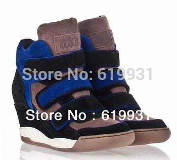 Ash Sneakers 2013 New Ash Sneaker Womens Alex Wedge Ash Sneaker Four Style Free Shipping Dropship Hot Sale Ash Sneakers