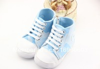 Free Shipping 2013 new 100% cotton soft outsole baby shoesWith side zipper shoes infant toddler shoes hot sale! MOQ 1pair