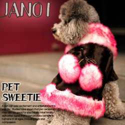 Free shipping Luxury fur pet clothes dog clothes overcoat large sphere autumn and winter thermal gentlewomen dog clothes(China (Mainland))