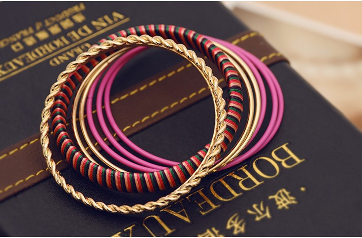 Free shipping fashion Bracelets,beautiful multilayer colorful 8 pieces bracelet, fashion jewelry Bracelets,hand rings(China (Mainland))