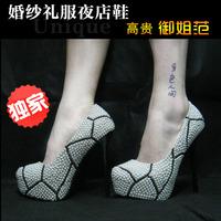 Wedding shoes crystal rhinestone heels pearl shoes handmade wedding shoes party shoes Crystal shoes platform