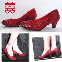 2014 Top New Arrival Adhesive Slip-on Rhinestone Sapatos Femininos Women Pumps High Heels Crystal Wedding Shoes Heel Forrmal