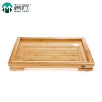 Free Shipping The stage of the small tablet tea Kung Fu Tea Sea drainage Moso bamboo tea tray good heat resistance 36cm*25cm*4cm