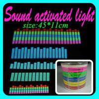 10sets/lot wholesale Genuine Equalizer Sound Active flashing EL car Sticker 45*11 Size 5colors Car decorative lights