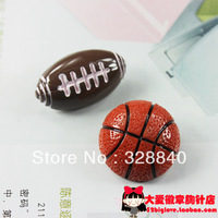 10 pcs/lot Sports Football soccer brooch badge three-dimensional resin brooches pin DIY accessory Min Order $15 (mixed order)