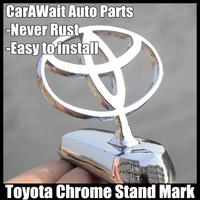 FreeShipping Toyota standard metal mark car Stand Mark Car Chrome Logo Hood Ornaments Badge Emblem antirust