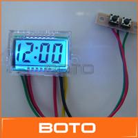 DC 9-15V Digital LCD Meter Car Motorcycles LCD Display clock Dashboard 12V Car Waterproof  Instrument #0900767