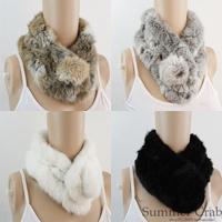 2013 Free Shipping Classic winter rabbit fur ball muffler scarf fur muffler scarf Wholesale Price