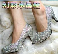 2014 Direct Selling Sale Open Toe Sapatos Femininos Women Shoes Women Pumps Crystal Diamond Heels Peeptoe Wedding Bridal Shoes
