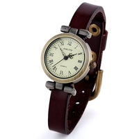 Fashion vintage table ladies watch cowhide belt trend watches