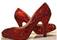 2014 Top Hot Sale Open Toe Pu Tpr Women Pumps Women Shoes High Heels Crystal Diamond Form Pumps Heels Peeptoe Bridal Shoes