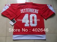 2013 NEW! Detroit #40 Henrik Zetterberg red jerseys, with C patch, please read description before place order