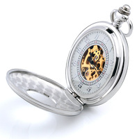 Amutn huadiao vintage pocket watch mechanical watch mechanical pocket watch cutout flip