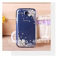 Bling 3D Flower Case Cover for Samsung Galaxy S3 III I9300 Free Shipping