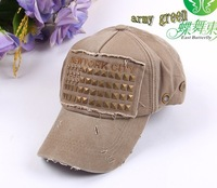 2013 do old style washing baseball caps with rivets personalized korea style summer embroidered new york city hats baseball