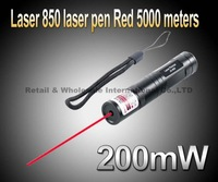 Laser 850 lamp 200mw  laser pen, 650nm green pen 5000 meters flashlight Red laser