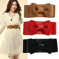 Min Order $15(mixed order)  Hot-selling bow elastic waist belt female 58g
