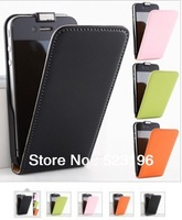 Free Shipping Retail Luxury For iPhone4 Case Genuine Flip Leather Cover For iPhone 4S 4 Cell Phone Accessories 1pcs/lot
