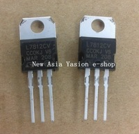 10 PCS L7812CV L7812 7812 3-TERMINAL VOLATGE REGULATORS V REG 12V 1.5A TO-220