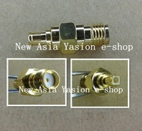 Free Shipping 2PCS SMA Female Jack to MCX Male Plug RF Coaxial Adapter Connector