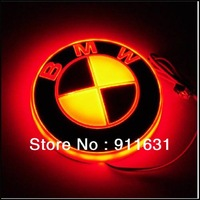2013 New Product  New Style, Red 4D Car Badge Light Auto Led Light  Auto Emblem Led Lamp Car Logo Light For BMW