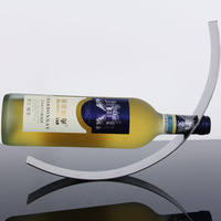 Wine Racks Creative European Wine Rack C-type Wine Rack  Stainless Steel   Minimalist Modern Home