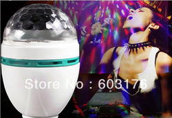Free Shipping Mini LED Laser Stage Light Effect Crystal Magic Ball Colorful Rotating Bulb For KTV Private Party Room DJ Disco(China (Mainland))