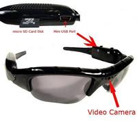 FREESHIPPING-Mini DV DVR Sun glasses Camera Audio Video Recorder