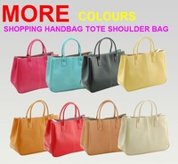2013 new women's fashion PU glossy handbag wallet nine-color high-quality handbags Free Shipping