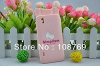 New Arrival Cute Cartoon Bowknot hello kitty Case Cover For LG Optimus Black P970,1pcs/lot