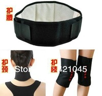 Shipping free!!! Hot sell!!Tourmaline self-heating  support knee support protecting waist Neck Belt  adjustable 1sets