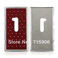 Wholesale Crystal Diamond Chrome Metal Hard Shell Case Cover for Nokia Lumia 920