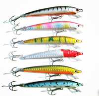 4 inch 9g fishing Lures Bait Tackle Diving Sinking Crankbait Hook Minnow Bass Trout arificial lures artificial bait  6 pcs  lot
