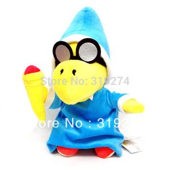"Wholesale/Retail Fashion Free Shipping FS New Super Mario Bros. Plush Magikoopa Koopa Wizard 25cm/10"" Soft Toy Stuffed"