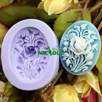 Nicole f0197 - glue mini resin flower polymer clay sugar chocolate candy ice cube tray mould soap flower